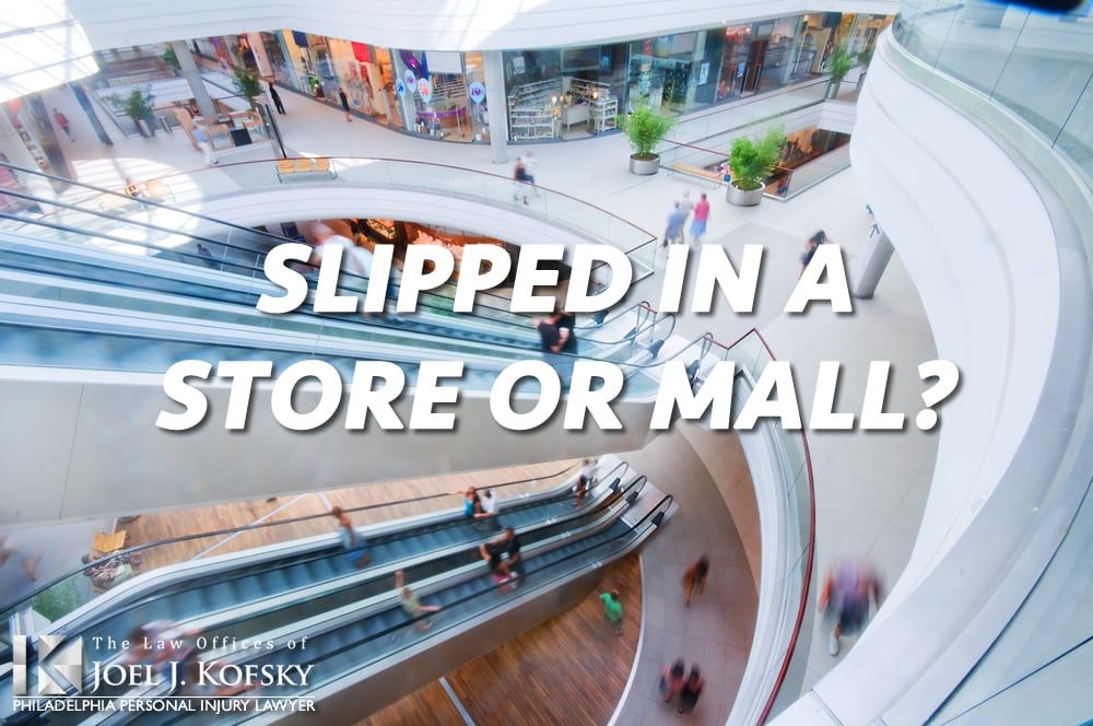 Slip and Falls in Philadelphia Retail Stores