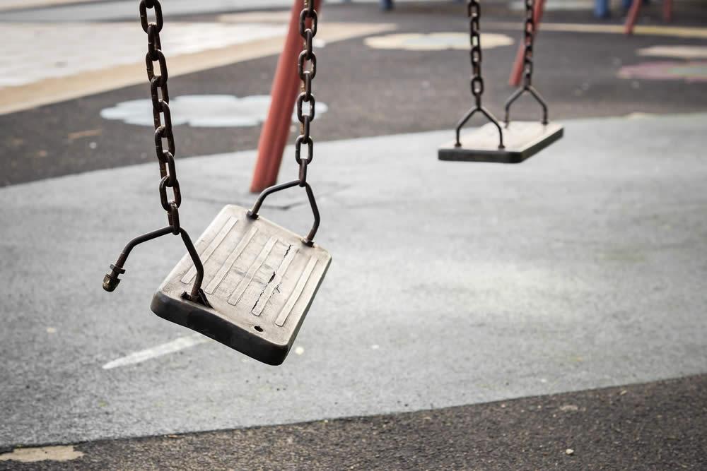 Broken Playground Equipment in Philadelphia